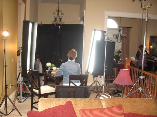 On the Set (My Livingroom!)
